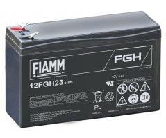 12V/5Ah FIAMM 5 år Højstrøm Bly slim12FGH23