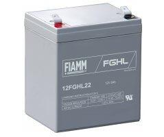 12V/5Ah FIAMM 10 års Højstrøm Blybatteri 12FGHL22
