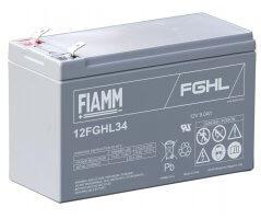 12V/9Ah FIAMM 10 års Højstrøm Blybatteri 12FGHL34
