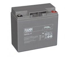 12V/17Ah FIAMM 10 års Blybatteri 12FGL17