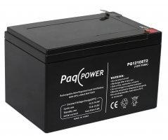 12V/10Ah PaqPOWER Blybatterier 5 års T1 terminal