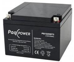 12V/25Ah PaqPOWER Blybatteri 5 års T3 terminal