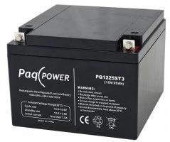 12V/25Ah PaqPOWER Blybatteri 5 års T10 terminal