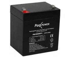 12V/4.5Ah PaqPOWER Batteri 5 års T1 terminal