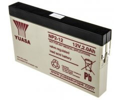 12V/2Ah Blybatteri NP2-12 slimline AGM type