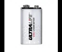 9V Lithium UltraLife engangsbatteri