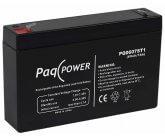 6V/7Ah PaqPOWER Blybatteri 5 års