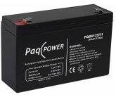 6V/12Ah PaqPOWER Blybatteri 5 års