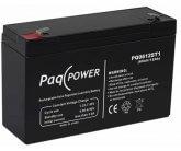 6V/12Ah PaqPOWER Blybatteri 5 års til backup