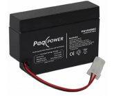 12V/0.8Ah PaqPOWER Blybatteri 5 års