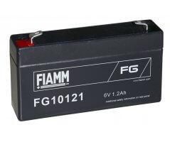 6V/1,2Ah FIAMM 5 års Blybatteri FG10121