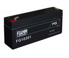 6V/3Ah FIAMM 5 års Blybatteri FG10301