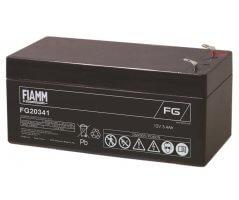 12V/3.4Ah FIAMM 5 års Blybatteri FG20341