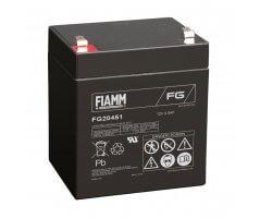 12V/4.5Ah FIAMM 5 års Blybatteri FG20451