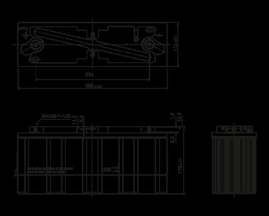 8V/90Ah Panasonic Blybatteri EC-FV0890