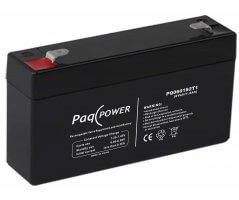 6V/1.2Ah PaqPOWER Blybatteri 5 års