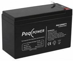 12V/9Ah PaqPOWER Blybatteri 5 års T1 terminal