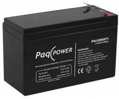 12V/9Ah PaqPOWER Blybatteri 5 års T2 terminal