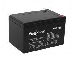 12V/10Ah PaqPOWER Blybatteri 5 års T2 terminal