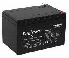 12V/12Ah PaqPOWER Blybatteri 5 års T2 terminal