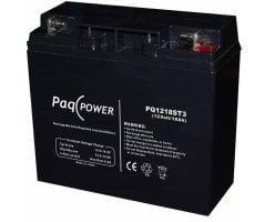 12V/18Ah PaqPOWER Blybatteri 5 års T10 terminal