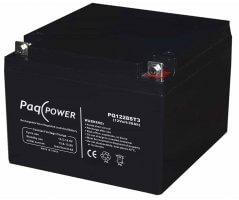 12V/28Ah PaqPOWER Blybatteri 5 års T3 terminal