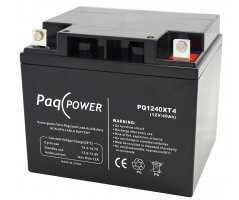 12V/40Ah PaqPOWER Blybatteri 10 års T11 terminal