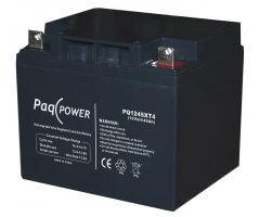 12V/45Ah PaqPOWER Blybatteri 10 års T4 terminal