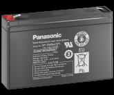 6V/7,8Ah Panasonic 6-9 års Blybatteri Faston 187