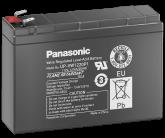 12V/4Ah Panasonic 6-9 års Blybatteri Faston 250