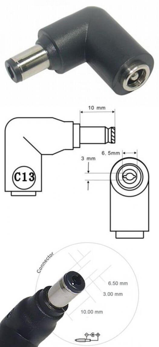 AC/DC  Adapter computer 16V/60W C13 stik