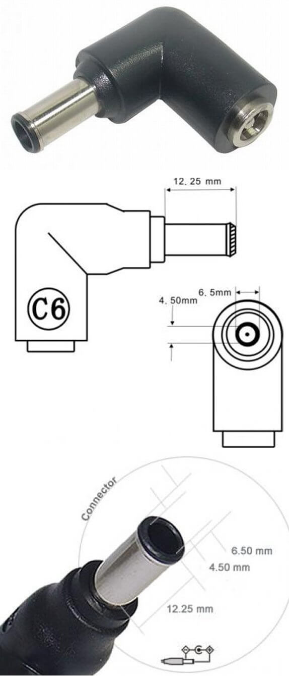 AC/DC Adapter computer 20/120W C6 stik