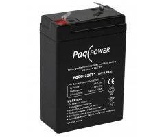 6V/2.8Ah PaqPOWER Blybatteri 5 års T1 terminal
