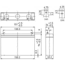 6V/7.2Ah Panasonic Blybatteri 6-9år LC-R067R2P