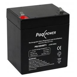 12V/4Ah PaqPOWER Blybatteri 5 års T1 terminal