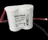 Ni-Cd Akkupack D 2,4V/4,5Ah Høj temp
