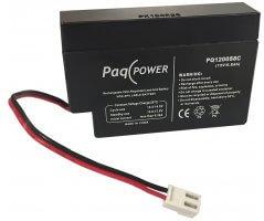 12V/0.8Ah PaqPOWER Blybatteri m/JST kabelstik
