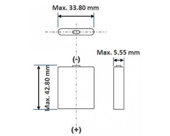 Lithium Ion batteri Panasonic UF-553443ZU