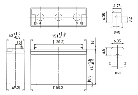 6V/12Ah Panasonic Blybatteri 6-9år LC-R0612P1