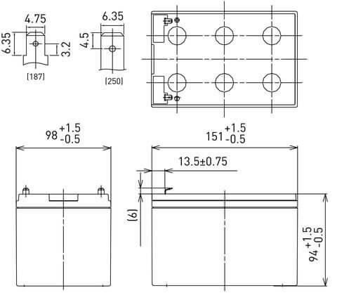 12V/12Ah Panasonic Blybatteri 6-9års LC-RA1212P