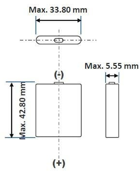 Lithium Ion batteri UF-553443ZU prismatisk