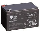 12V/12Ah FIAMM 5 års Højstrøm Blybatteri 12FGH50