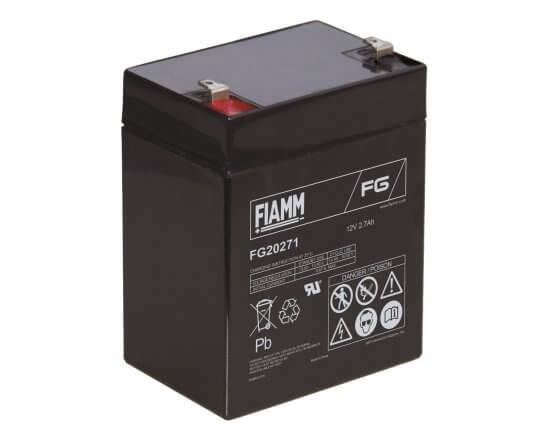 12V/2,7Ah FIAMM 5 års Blybatteri FG20271