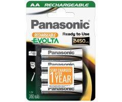 AA/P6E Panasonic Evolta genopladelig 2450mAh