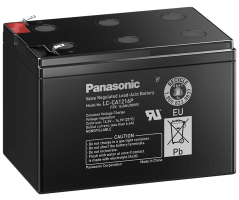 12V/16Ah Panasonic Cyclic Blybatteri Faston 187