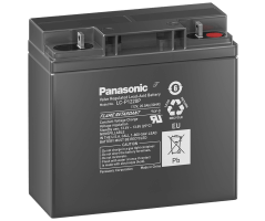 12V/20Ah Panasonic Blybatteri 10-12år LC-P1220P
