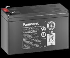 12V/7.2Ah Panasonic 10-12 års Blybatteri Faston187
