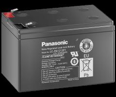 12V/12Ah Panasonic 10-12 års blybatteri Faston 250