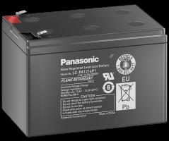 12V/16Ah Panasonic 10-12 års blybatteri Faston 250