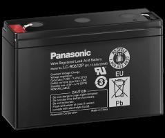 6V/12Ah Panasonic 6-9 års Blybatteri Faston 187